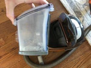 Bissell vacuum dirt tank