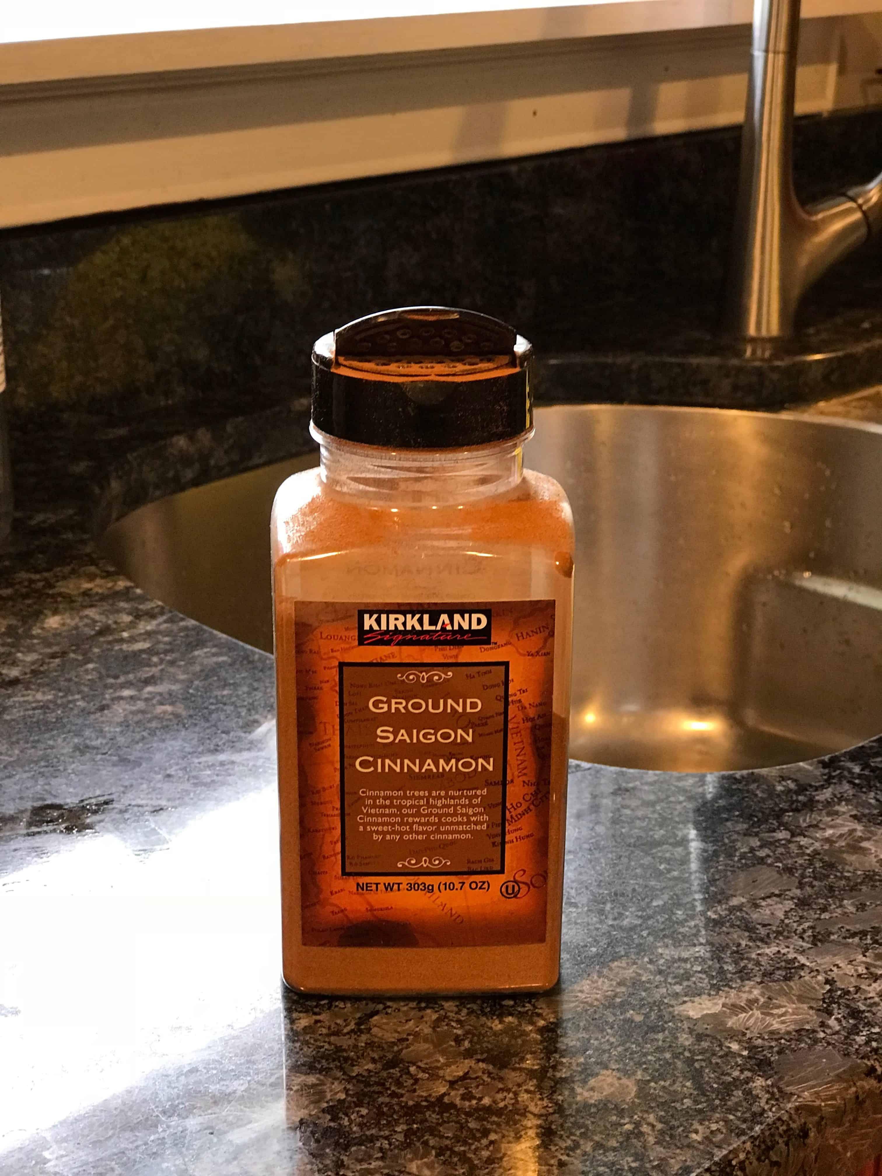 cinnamon on kitchen counter