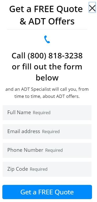 ADT get a free quote
