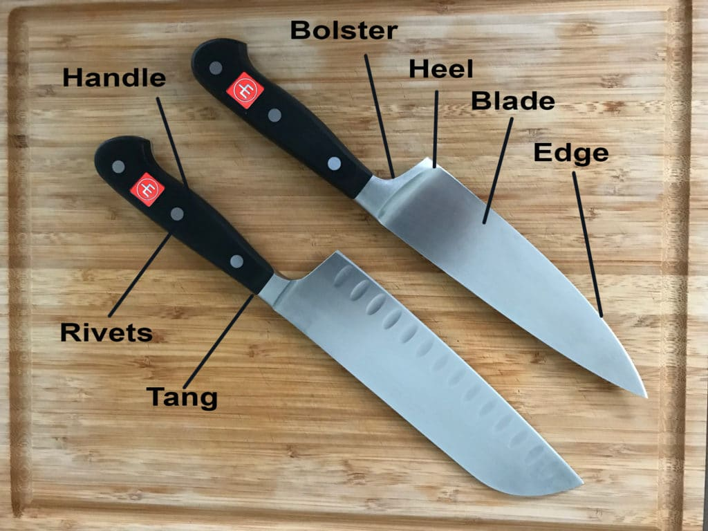 Anatomy of a Wusthof forged kitchen knife