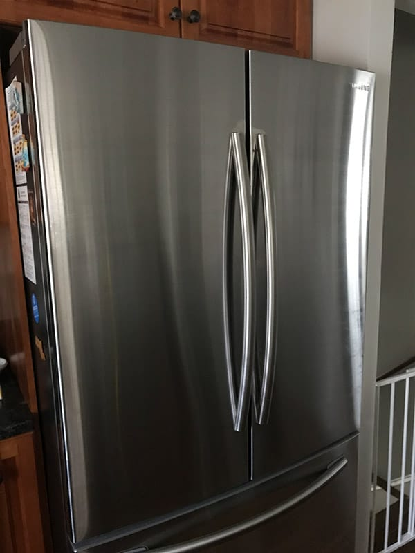 Clean Stainless Steel Refrigerator