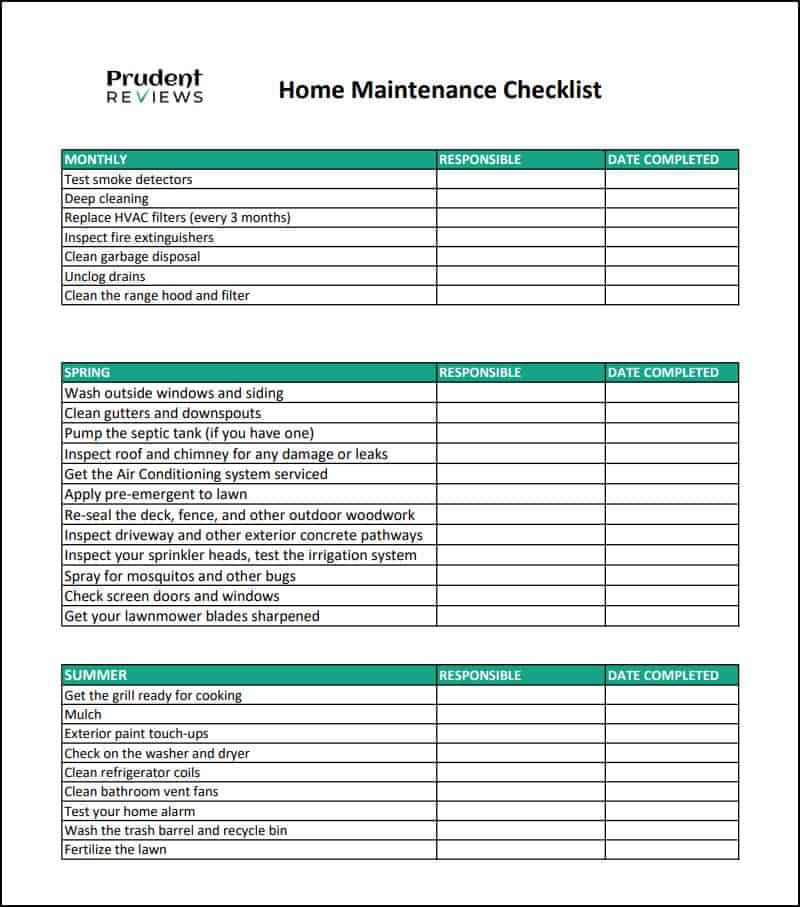 The Ultimate Home Maintenance Checklist Printable