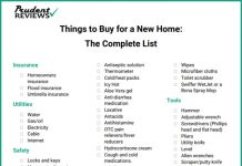 Things to Buy for a New House - The Complete Checklist