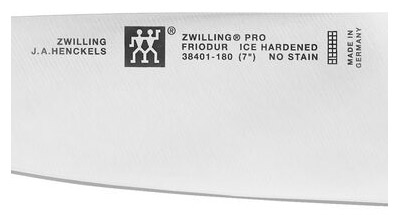 Zwilling JA Henckels Twin Logo on a Forged Knife