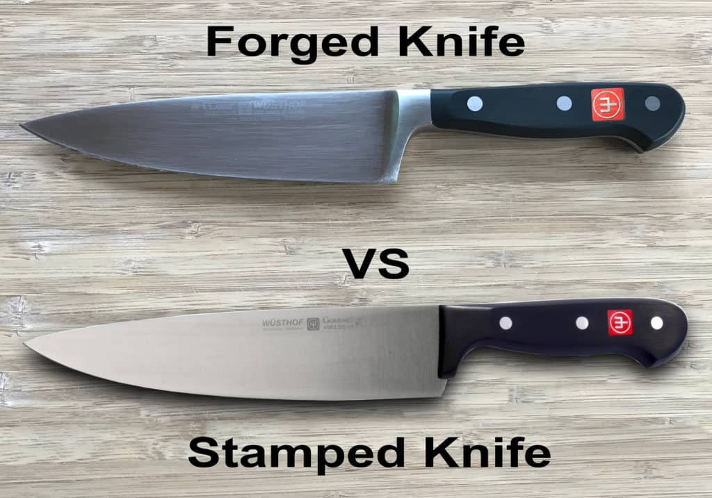 forged knife vs stamped knife