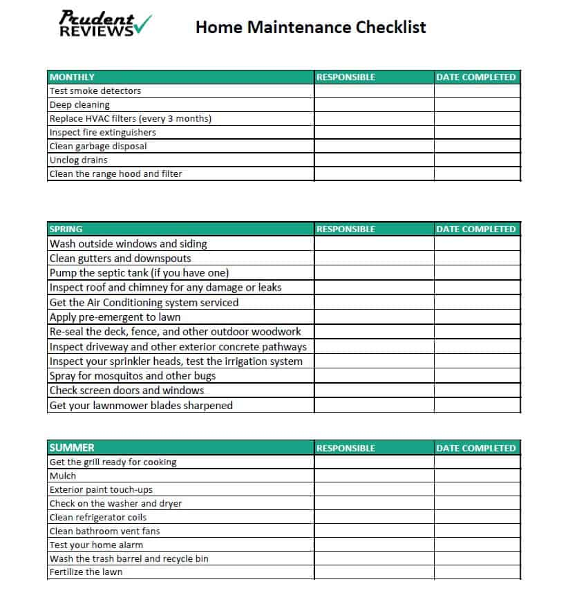 The Ultimate Home Maintenance Checklist Printable