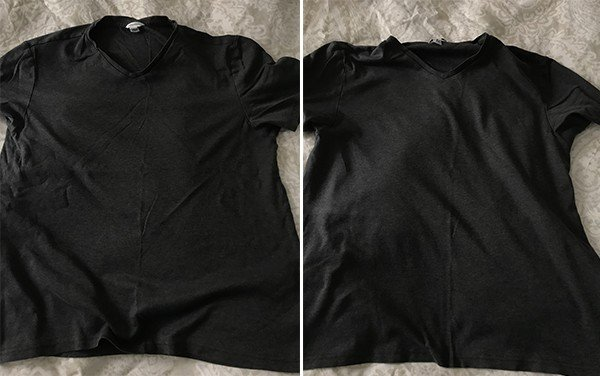 Dryer balls reducing wrinkles on shirts