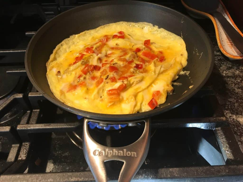 Cooking an omelette