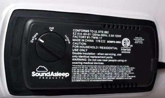 SoundAsleep one click built in pump