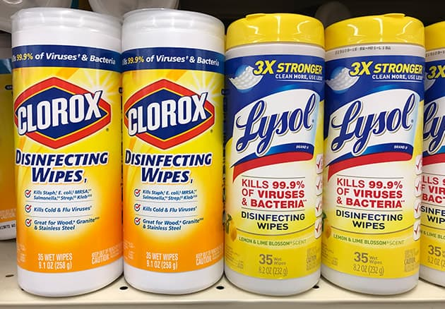 Clorox vs  Lysol: Which Disinfecting Wipes Kill More Germs