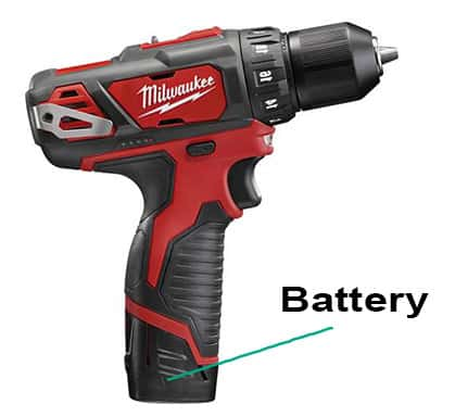 Milwaukee M12 handle and battery