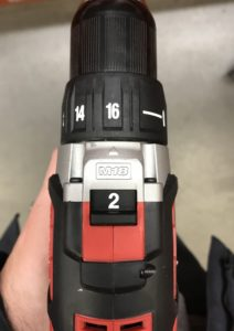 Milwaukee M18 Compact Drill Driver Speed Settings