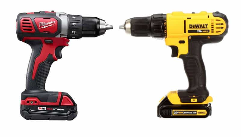 Milwaukee versus DeWalt Drills