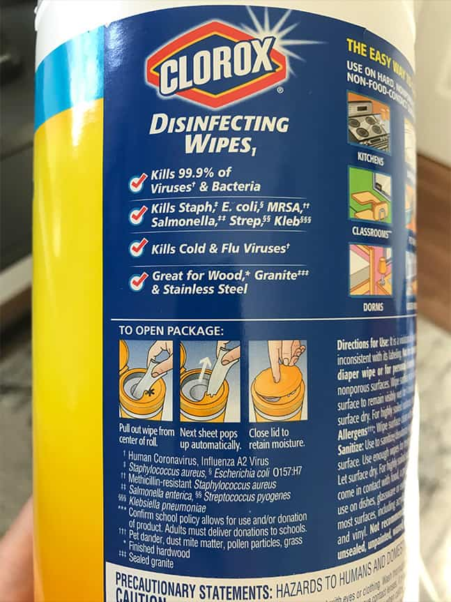 What Germs Do Clorox Wipes Kill