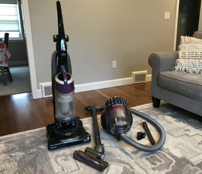 canister vs. upright vacuum