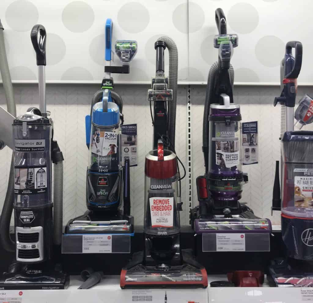 many upright vacuum options in the store