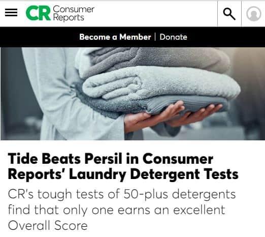 ConsumerReports Laundry Detergent Study
