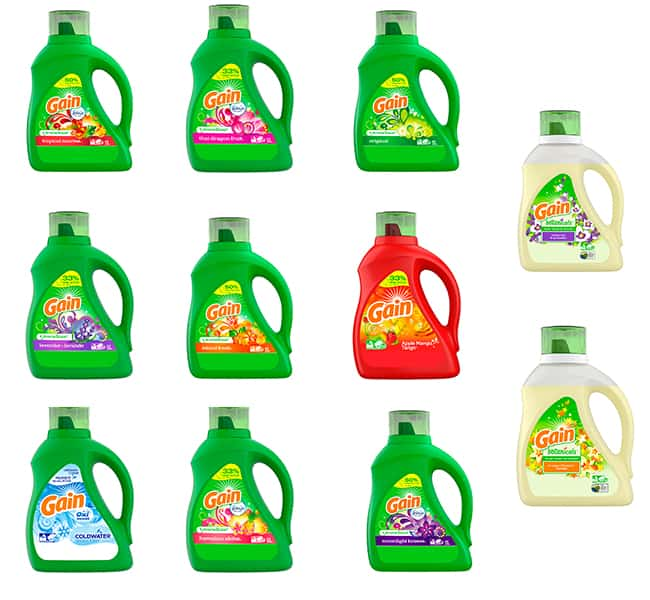 Gain Liquid Detergent Product Line