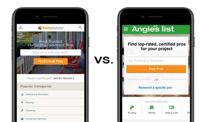 Homeadvisor Vs Angie S List Differences Similarities