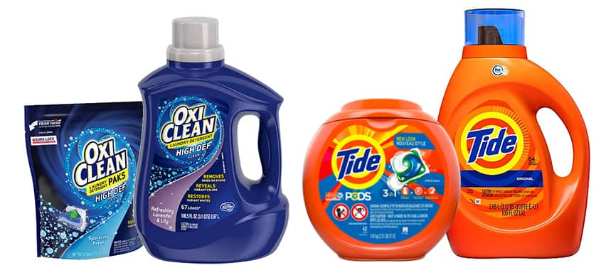OxiClean vs. Tide detergent