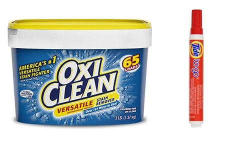 OxiClean vs. Tide stain removers