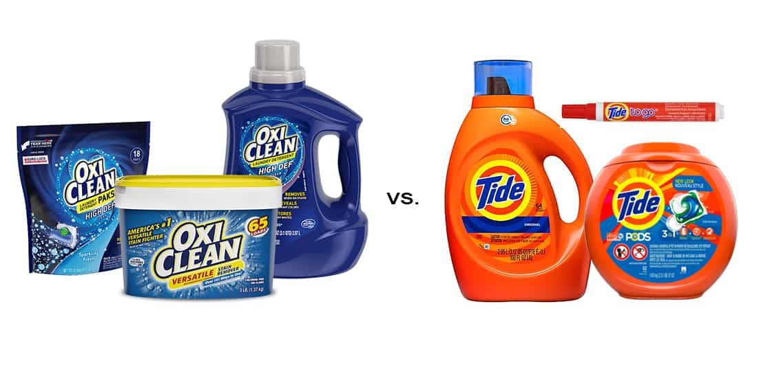 Oxiclean Vs Tide Which Detergent And Stain Remover Is