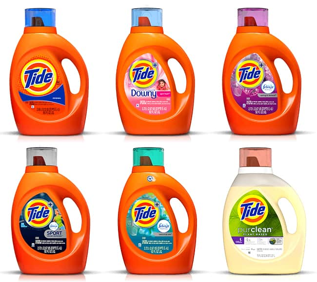 Tide Scented Liquid Detergents