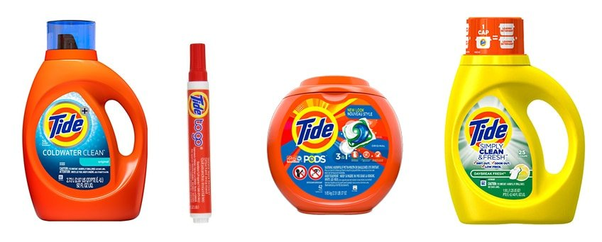 Tide laundry detergent innovations