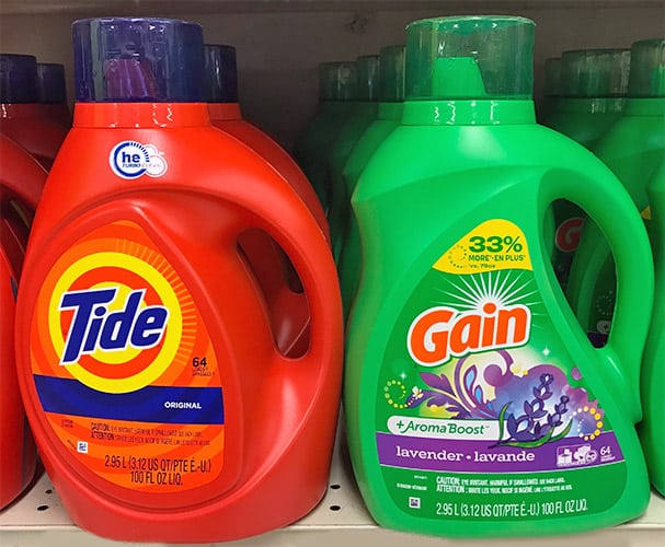 Tide vs. Gain Laundry Detergent: What's the Difference?