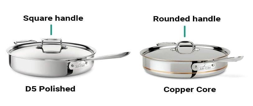 All-Clad D5 vs. Copper Core Lid Handles
