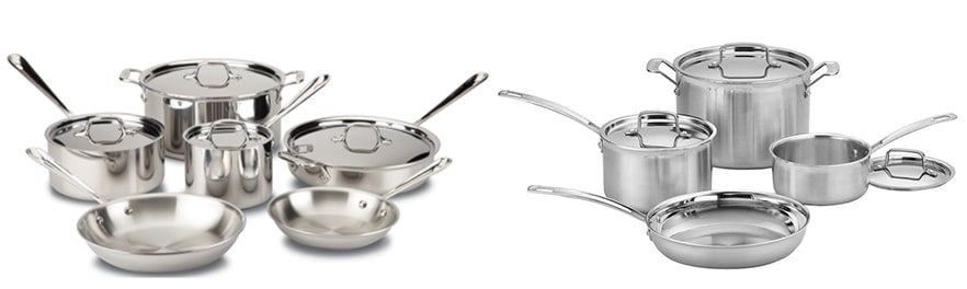 All-Clad D3 vs. Cuisinart Multiclad Pro