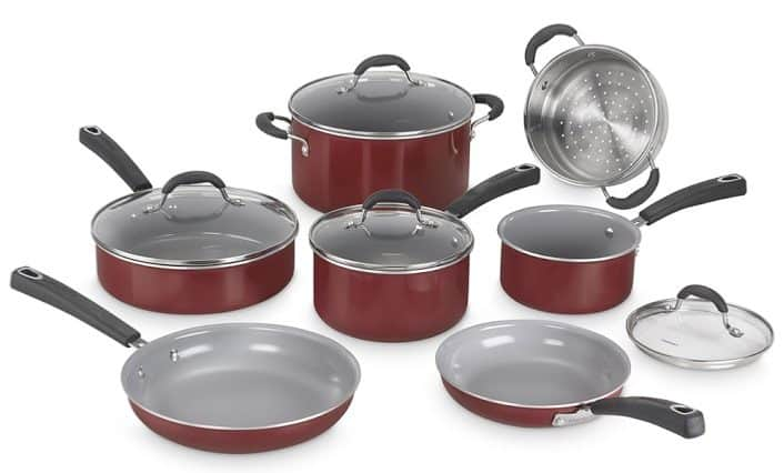 Cuisinart Advantage Ceramic Nonstick Red Exterior