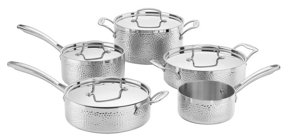 Cuisinart Hammered Collection Tri-Ply Stainless