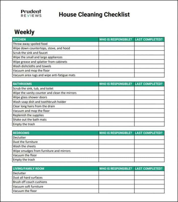 It is a photo of Irresistible Printable House Cleaning Checklist Pdf