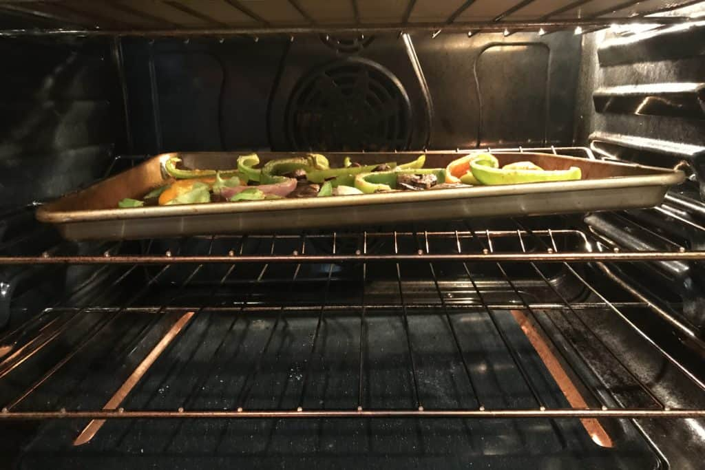 Warped sheet pan in the oven