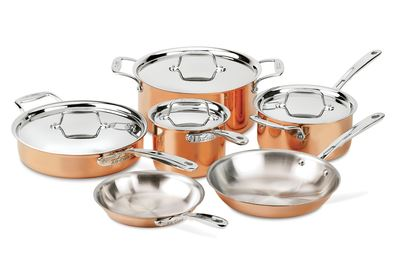All-Clad C4 Copper 10 piece set