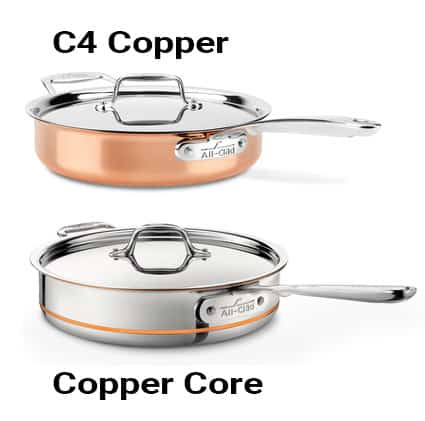 All-Clad C4 Copper vs. Copper Core_Design