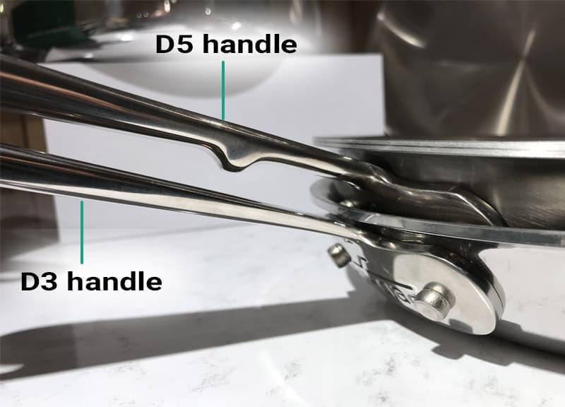 All-Clad D3 vs. D5 handles