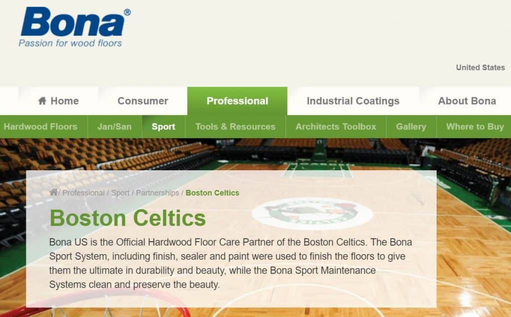 Bona and Boston Celtics Partnership