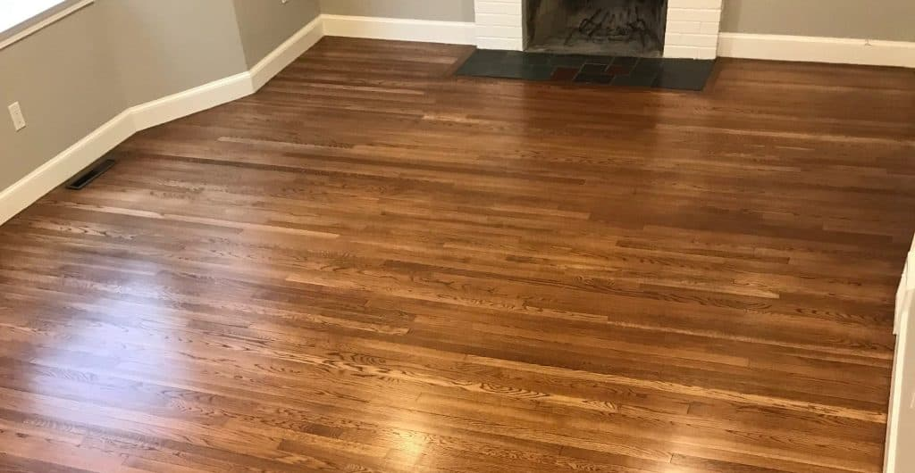 Hardwood floors cleaned with Bona