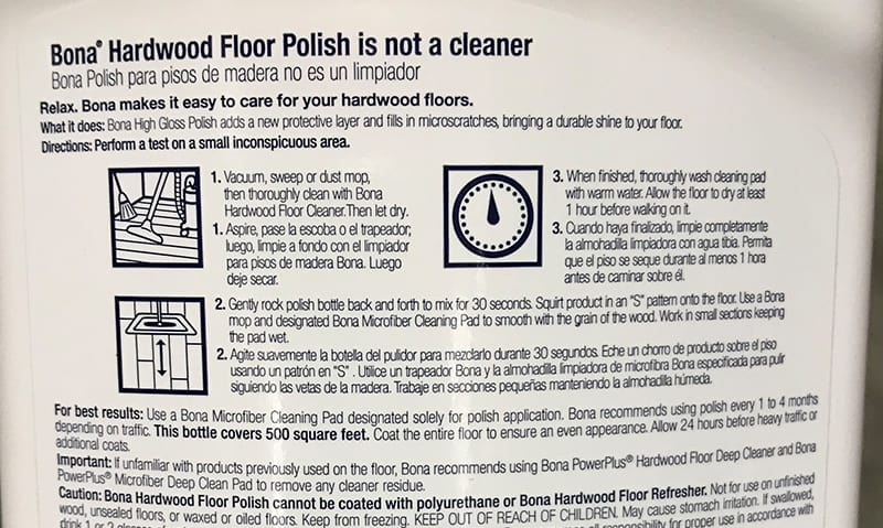 Bona Hardwood Floor Polish Directions