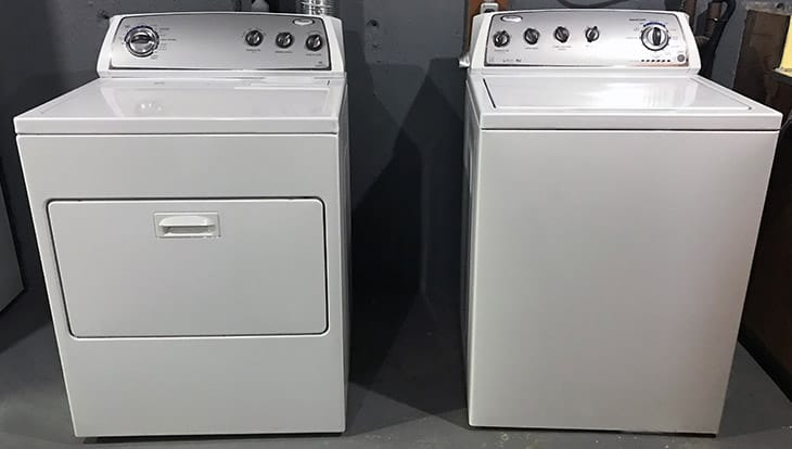 How much does a washing machine and dryer weigh