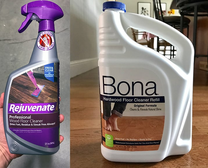 Rejuvenate vs. Bona Hardwood Floor Cleaner