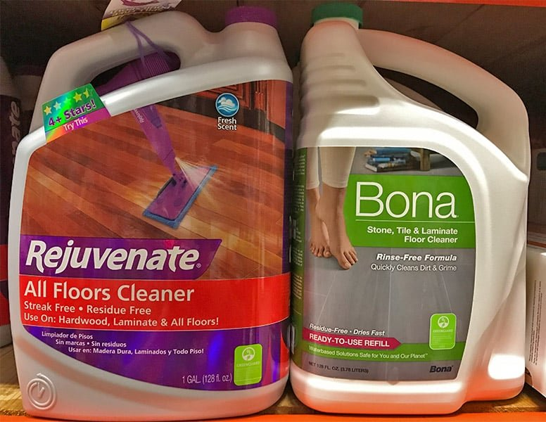 Rejuvenate vs. Bona Multi-Surface Floor Cleaners