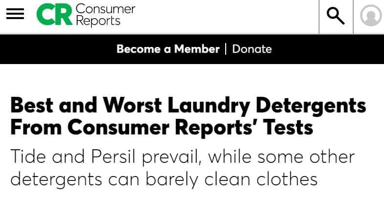 Consumer Reports: Best Laundry Detergents