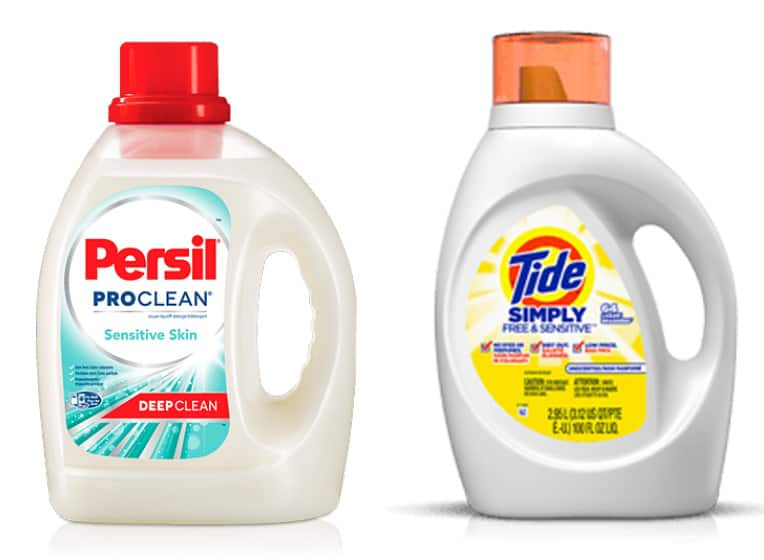 Persil ProClean Sensitive Skin and Tide Simply Free and Sensitive