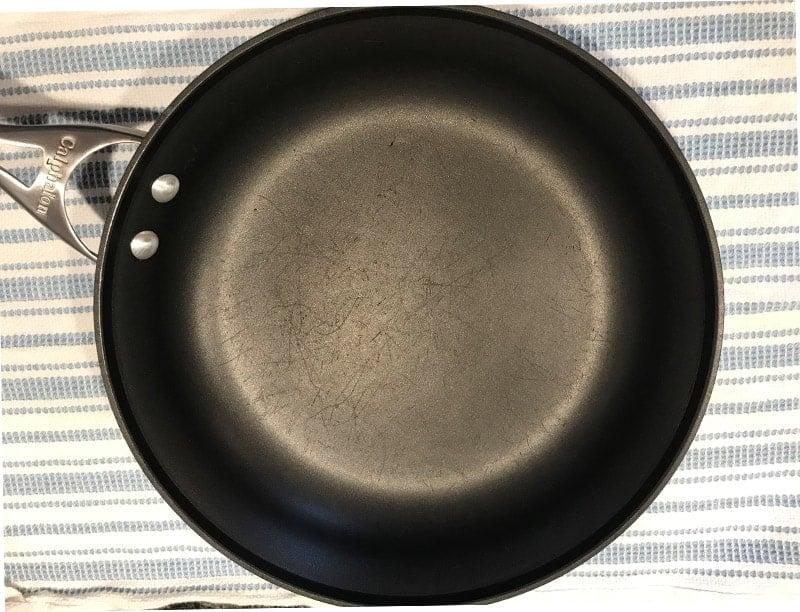 Teflon pan scratched
