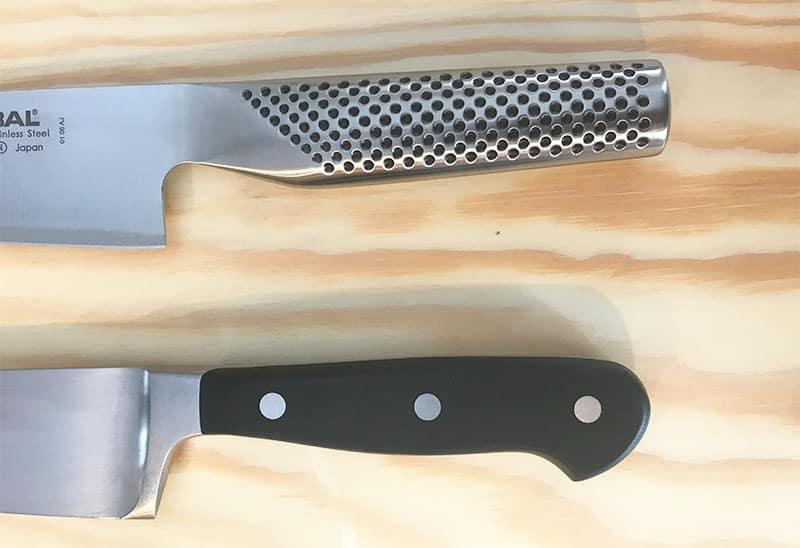 Wusthof versus Global Blade Handles