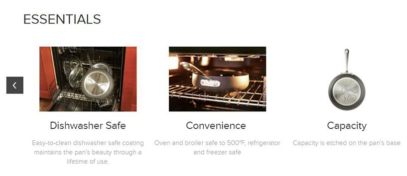 All-Clad Product Listing - Oven Safe Temperature