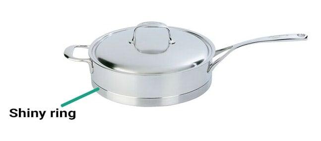 Demeyere cookware shiny ring